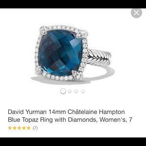 David Yurman Chatelaine Blue Hampton Ring